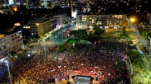 مظاهرات نسائية فى تل أبيب  إحتجاجا على العنف ضد المرأة