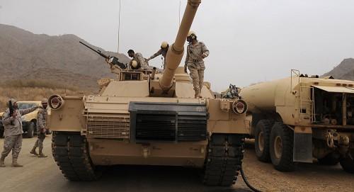 تعزيزات عسكرية سعودية تصل عدن عبر منفذ الوديعة