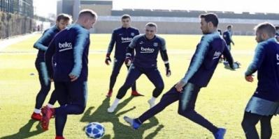 برشلونة يستأنف تدريباته استعداداً لتوتنهام