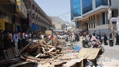 مقتل امرأتين جراء تفجير مليشيا الحوثي منزلهما بتعز