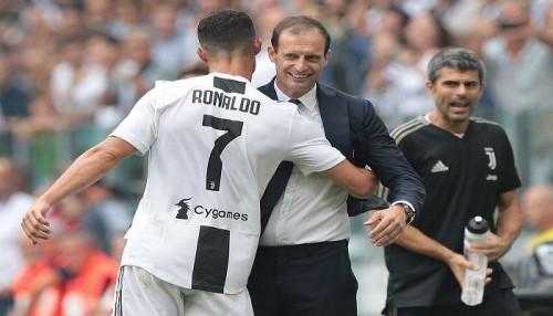 أليجري يكشف عن موعد غياب كريستيانو رونالدو عن مباريات الفريق