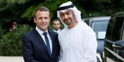 بن زايد يبحث مع الرئيس الفرنسي علاقات البلدين