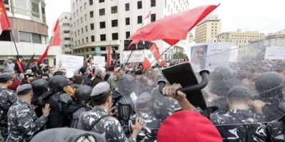 """""""الرايات الحمراء"""" تتوعد السلطات اللبنانية بتصعيد الاحتجاجات"""