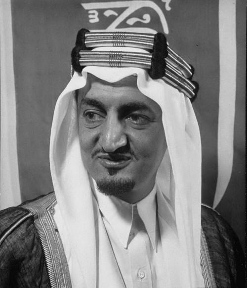 صورة نادرة للملك فيصل بن عبدالعزيز عام 1956