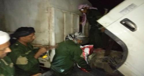 ضبط شاحنة تهريب على متنها أسلحة وذخائر في عدن (تفاصيل)