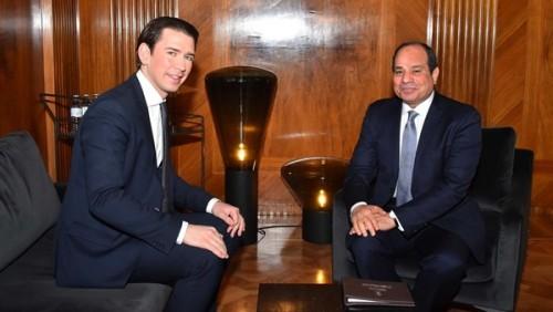 الرئيس السيسي يعرب عن سعادته بزيارة النمسا