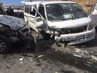 وفاة شخص وإصابة 4 في حادث مروري بشبام
