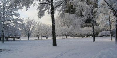 """لإخفاء آثار التلوث.. مدينة روسية تطلي الثلج باللون الأبيض """"فيديو"""""""