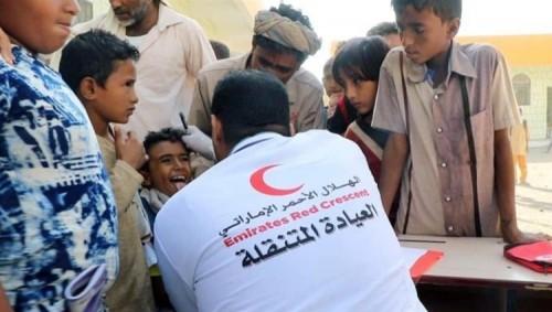الهلال الأحمر الإماراتي يواصل إغاثة الحالات المرضية بالحديدة