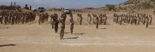 عرض عسكري بمناسبة تخريج الدفعة الثالثة من الشرطة العسكرية بالضالع