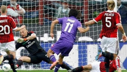فيرونتينا يفوز على ميلان 1-0 في الدوري الإيطالي