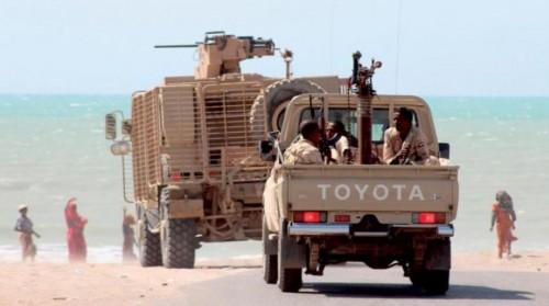 التحالف يدعم الجيش بآليات عسكرية شمالي الضـالع
