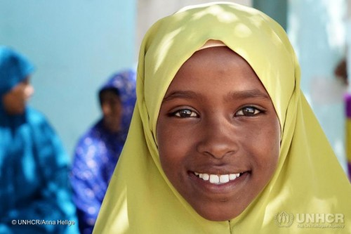 مفوضية اللاجئين تنشر صورة للاجئة صومالية تحلم بأن تصبح طبيبة