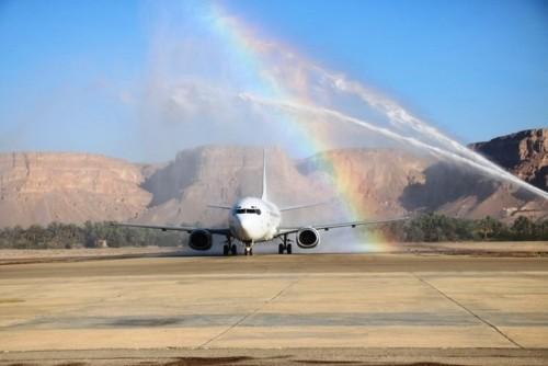 طيران الملكة بلقيس يدشن أولى رحلاته الجوية من وإلى سيئون