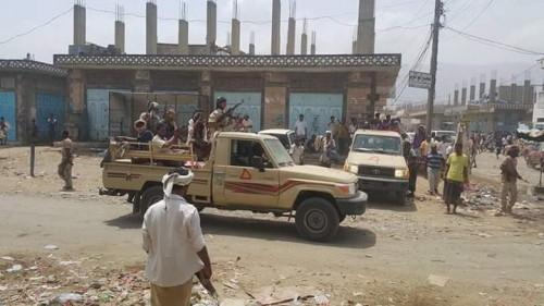 تفاصيل الاشتباكات بين العناصر المجهولة وقوات الحزام الأمني بلودر