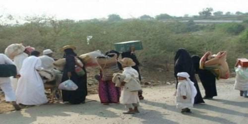 مئات الأسر تتنظر الموت في الصحراء بسبب ممارسات الحوثي بالحديدة