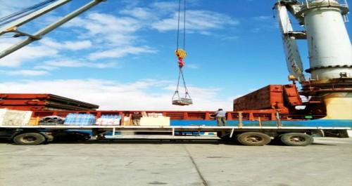 وصول دفعة جديدة من معدات مشروع محطة كهرباء المصافي الجديدة (صور)