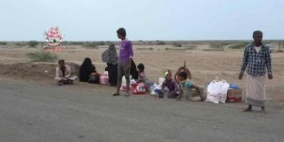 ألوية العمالقة: نزوح العشرات من ساكني الحديدة هرباً من قصف الحوثي