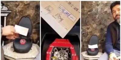 مقيم بالكويت يشتري ساعة بنحو 152 ألف دولاراً (فيديو)