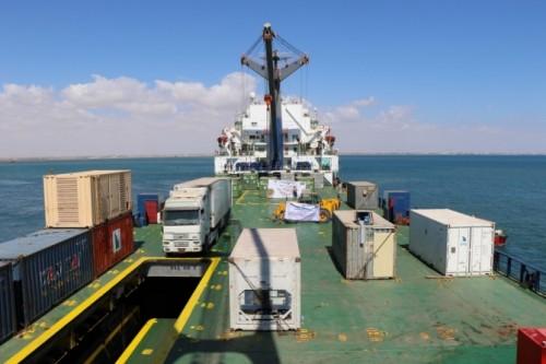 """الإمارات تستهل عام التسامح بشحنة أدوية إلى ميناء عدن """"صور"""""""