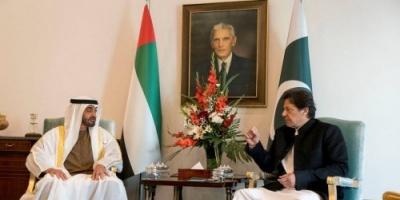 ولي عهد أبوظبي ورئيس وزراء باكستان يبحثان تعزيز العلاقات الثنائية