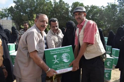 تدشين مشروع توزيع مساعدات مركز الملك سلمان بالحوطة