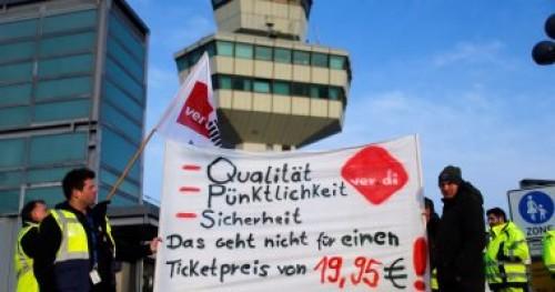إلغاء 55 رحلة طيران في برلين والسبب إضراب عمال الأمن