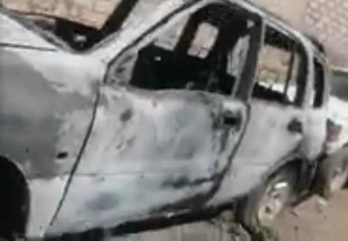 مجهولون يحرقون سيارة جندي باللواء ٨٣ في الضالع
