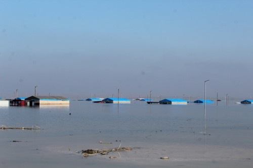 مفضية اللاجئين: المياه تغمر مخيم العريش للنازحين بسوريا