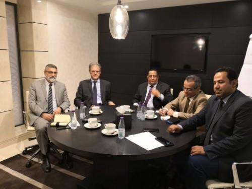 لبحث القضية الجنوبية.. الخبجي يلتقي السفير الفرنسي لدى اليمن