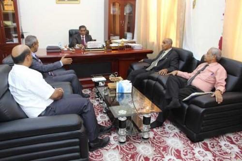 تفاصيل لقاء محافظ حضرموت مع وكيل وزارة الصحة