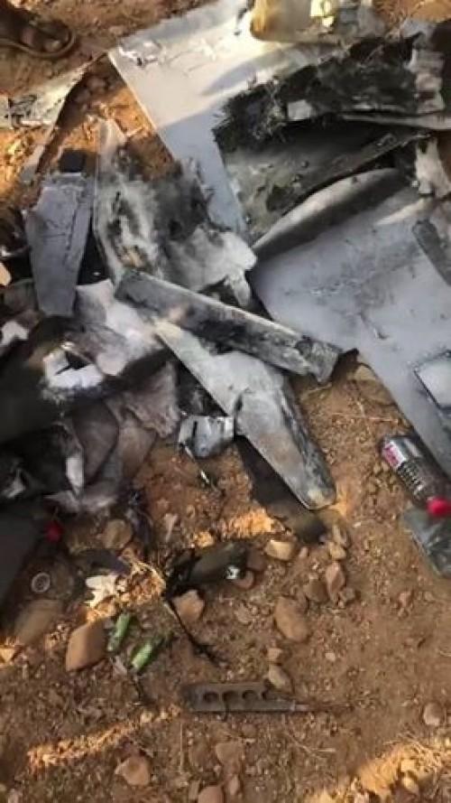 سقوط ثالث طائرة بدون طيار حوثية في صعدة (صورة وتفاصيل)