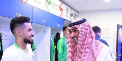 الأمير عبدالعزيز يهنئ المنتخب السعودي بالفوز