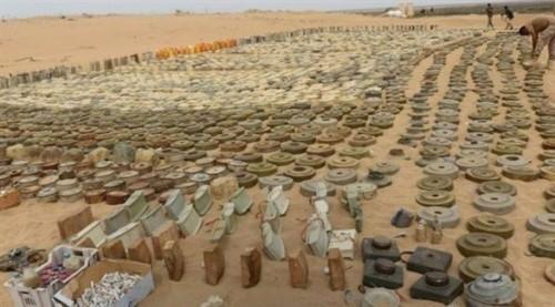 الجيش يعلن نزع آلاف الألغام الإيرانية التي زرعها الحوثيون في صعدة