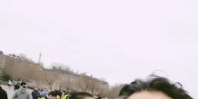 """راغب علامة يؤيد السترات الصفراء في باريس بهذه الطريقة """" فيديو """""""