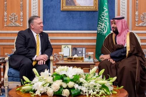 ماذا دار بين بن سلمان ووزير الخارجية الأمريكي بشأن اليمن؟