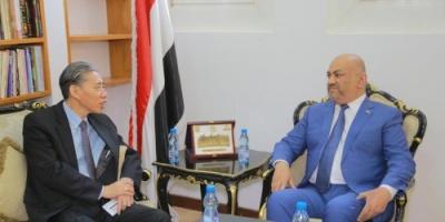 تفاصيل لقاء وزير الخارجية بالسفير الصيني لدى اليمن