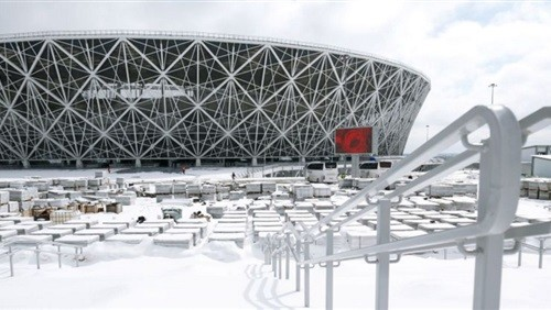 روسيا تحتل المرتبة الرابعة من حيث عدد الملاعب التى تم بناؤها من الصفر