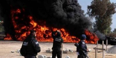 """المكسيك.. مقتل وإصابة العشرات في انفجار خط أنابيب بوسط البلاد """"فيديو"""""""
