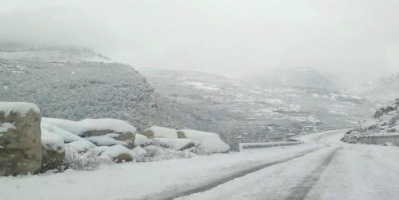 لبنان تنوه عن الطرقات المقطوعة بسبب الثلوج
