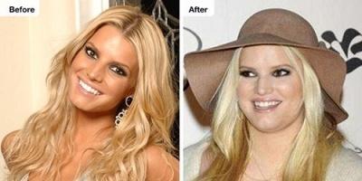 بالصور.. شاهد تغير ملامح جيسيكا سيمبسون بعد زيادة وزنها