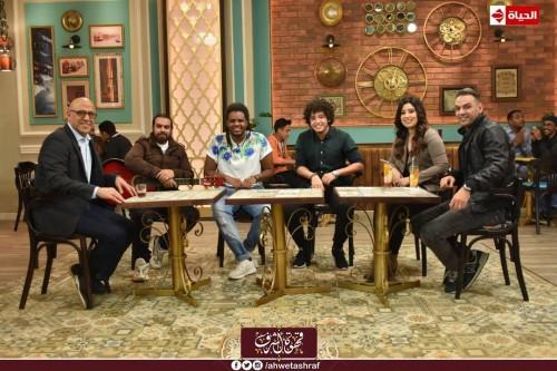 """اليوم.. أشرف عبد الباقي يستضيف آيتن عامر وزوجها ببرنامج """" قهوة أشرف """""""