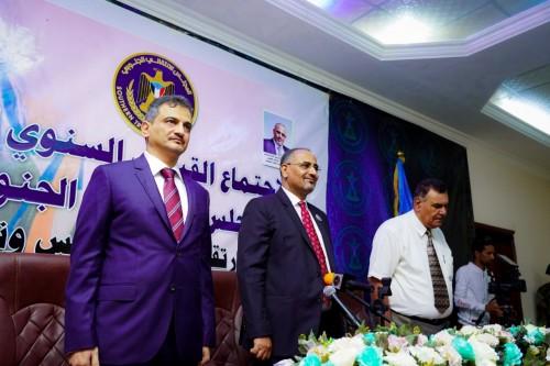 بالصور ..المجلس الانتقالي يعقد اجتماعه السنوي الأول
