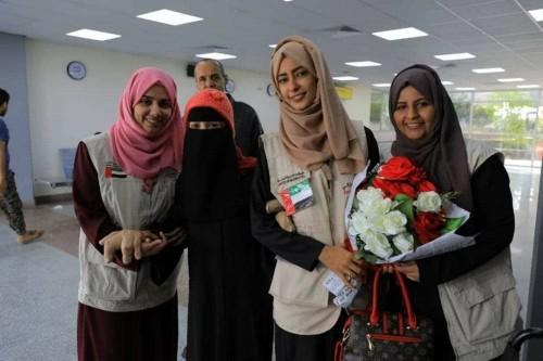 عودة فاطمة الحوشبي إلى عدن بعد رحلة علاج ناجحة في الهند