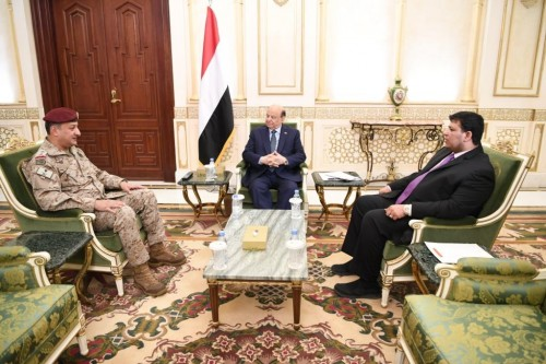 لقاء بين هادي وقائد القوات المشتركة لبحث آخر المستجدات