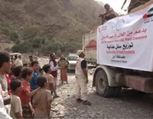 استجابة لنداءات سكانها.. قافلة إغاثية من هلال الإمارات إلى منطقة سلب حمة
