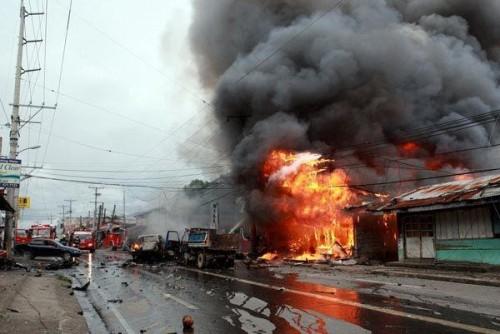 مقتل 21 شخصاً وإصابة 71 بانفجارين متعاقبين بالفلبين (تفاصيل)