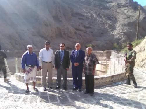 الكاف والوالي يتفقدان معالم الصهارج الأثرية بمدينة كريتر