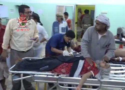 عشرات الشهداء والجرحى في عملية إرهابية حوثية بمدينة المخا (فيديو)