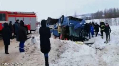 مصرع 7 أشخاص بينهم 4 أطفال في حادث مروع بروسيا